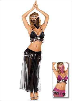 Fredericks of Hollywood Belly Dancer Costume