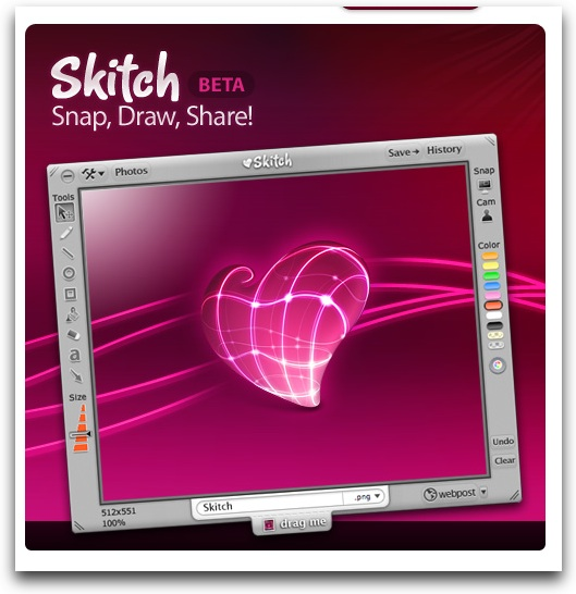 Skitch.com + Skitch = fast and fun screen capture and image sharing.
