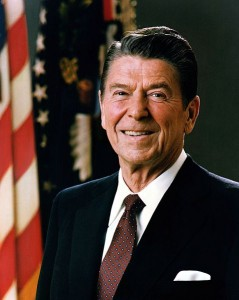 Ronald Reagan Official Presidential Portrait